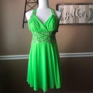 Stunning Lime Green Dress EUC